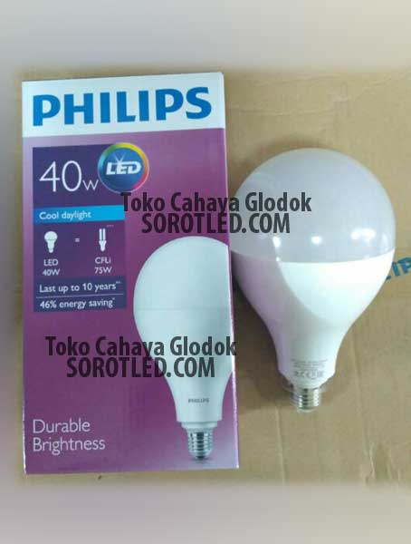 Lampu Philips LED Bulb 40watt 33watt Durable Brightness