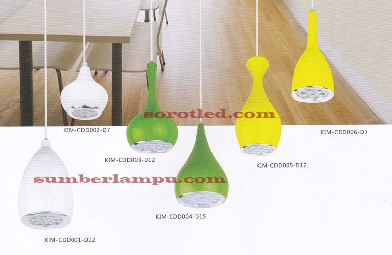 Lampu  Gantung  LED Desain  Minimalis Toko Sorot LED