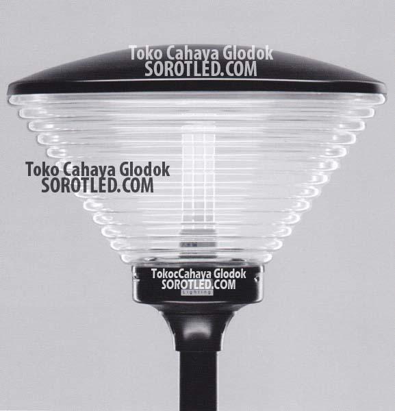 Lampu Taman Kaca Bening 1xe27 Minimalis Modern Toko Cahaya Glodok