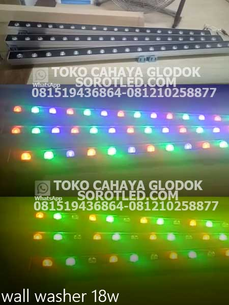 lampu led dinding wallwasher 18 watt rgb