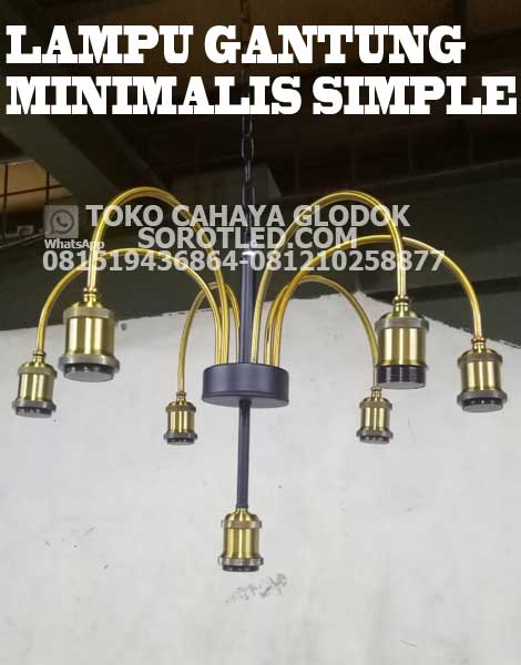 lampu gantung minimalis simple