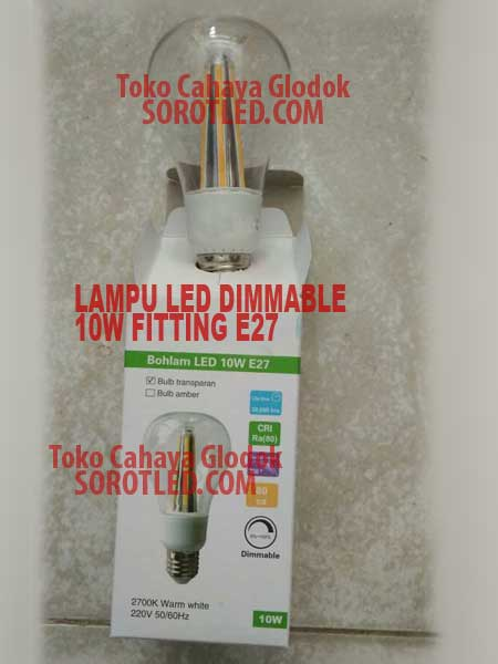 Lampu Dimmable LED 10 watt E27