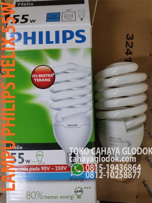 Lampu Philips Helix 55w Cool Daylight Sumberlampu Com