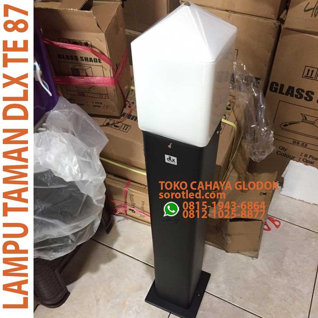 Jual Lampu Taman Dlx Te87 Black Opal Glass Sorotled Com