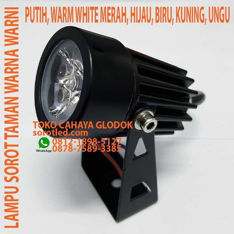 Jual Lampu Taman Warna Warni 3w Waterproof Sorotled Com