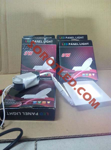 Lampu Plafon LED Panel 3watt Model Kotak