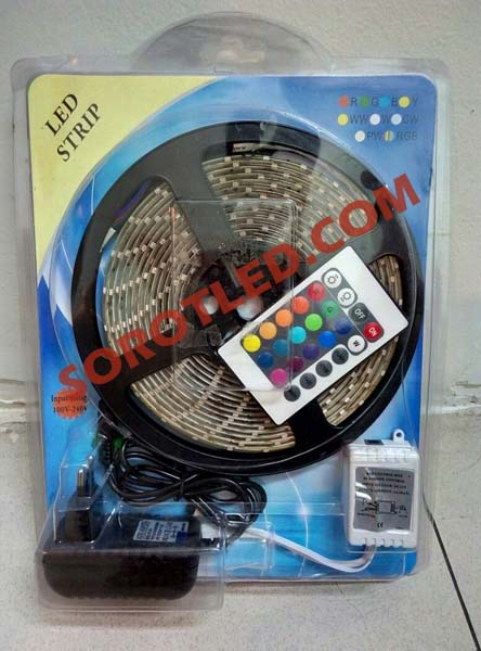Lampu LED Strip RGB Dekoratif Remote Komplit Set