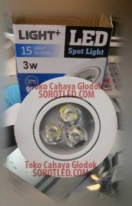 Lampu Downlight Light++ 3watt Super LED