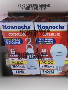 Lampu Hannoch Genius 10watt Emergency Bulb