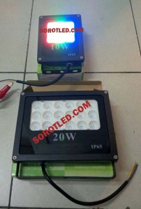 Lampu Sorot LED RGB Remote 10w~50w Model Terbaru