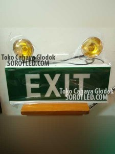 Lampu Halogen Mata Kucing EXIT Sign Durable Emergency
