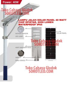 Lampu Jalan Solar Panel LED 40 watt