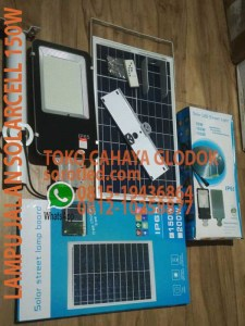lampu jalan solarcell 150w