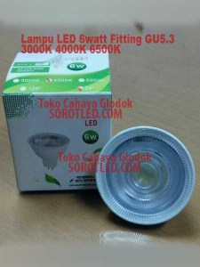 Lampu LED 6 watt 4000K Fitting GU53