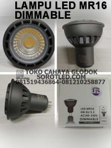 lampu led dimmable 6 watt