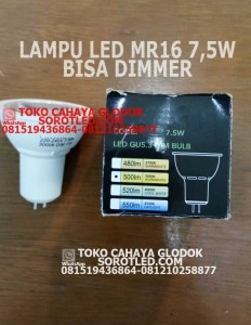 Lampu LED Dimmable 7.5w Base GU5.3