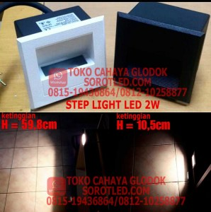 Lampu Step Light LED 2w Simply Compact