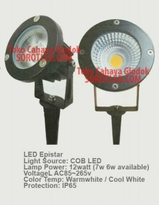 Lampu Taman LED Tusuk 12watt Chip Epistar